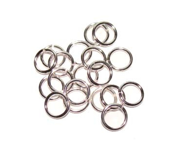 9mm  approx. 22 gauge  pack of 200 pcs Platinum plated open jump rings