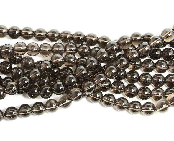4mm Natural smoky quartz round beads