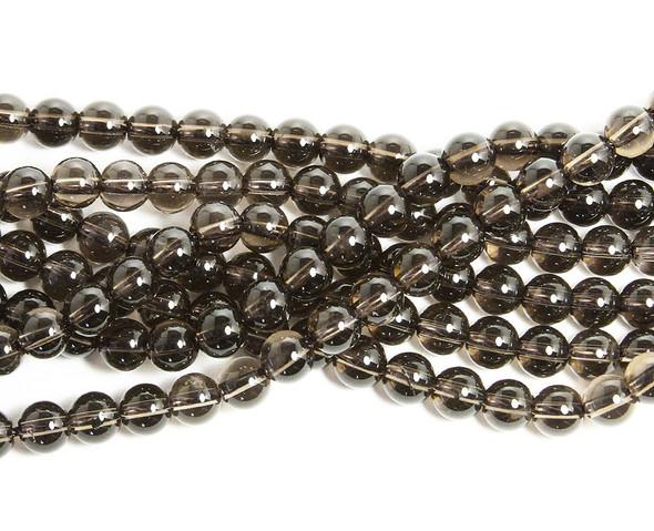 4mm Natural smoky quartz round beads