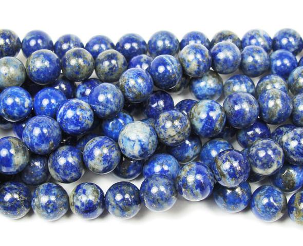 8mm Natural lapis round beads