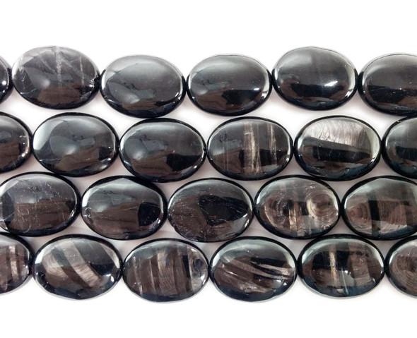 15x20mm Hypersthene oval beads