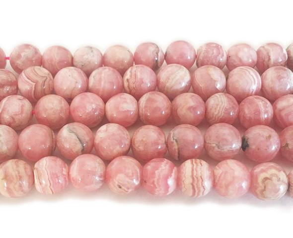 4mm  16 inches Argentina rhodochrosite smooth round beads