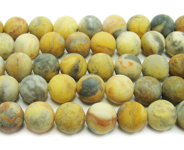 Crazy lace agate matte round beads