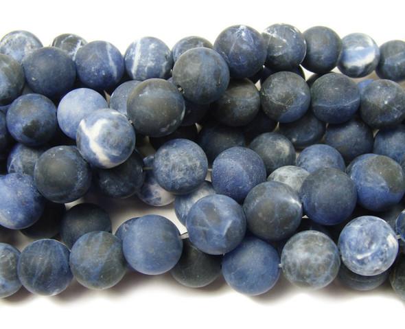 Sodalite matte round beads