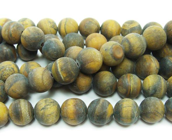 Tiger eye matte round beads
