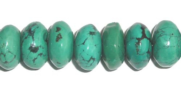 10x14-10x15mm Chinese turquoise rondelle beads