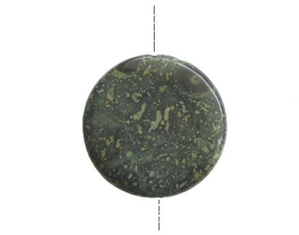 35mm Kambaba jasper puffed round pendant