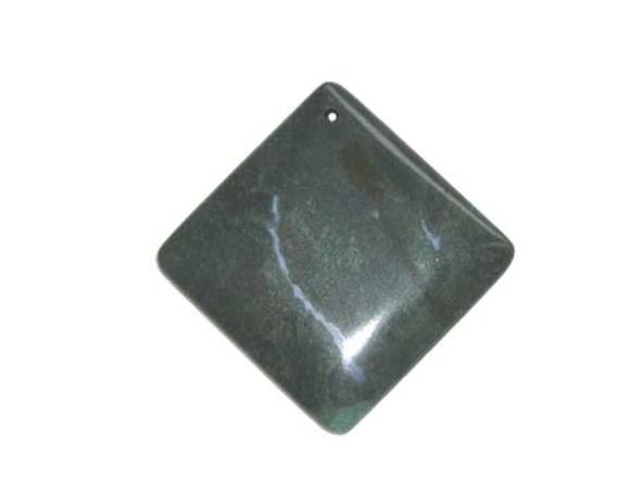 55x55mm Indian Agate Diamond-Shaped Pendant