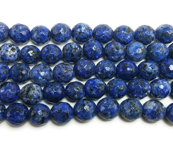 8mm Kiwi blue jade faceted round beads