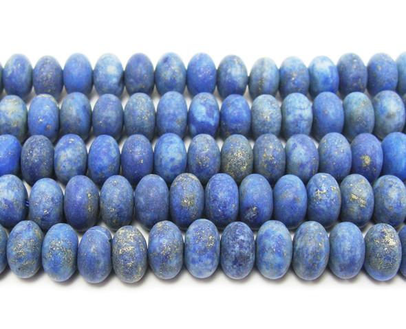5x8mm Lapis Matte Rondelle Beads