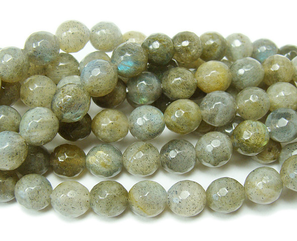 5mm 15 Inches Labradorite Faceted Round Beads