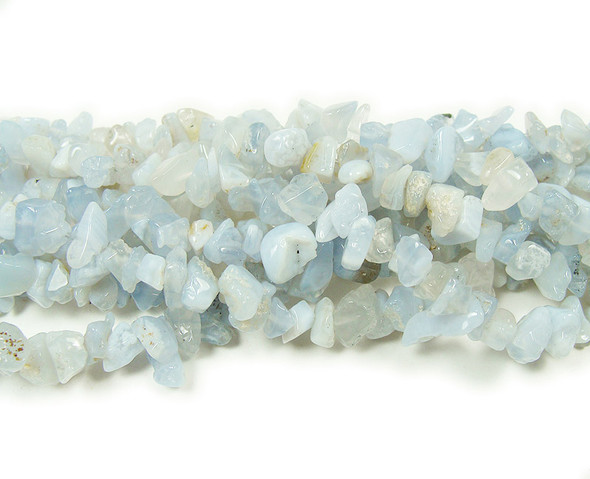 3x6mm  34 inches Blue lace agate chips