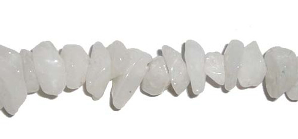 3x6mm  34 inches White jade chips
