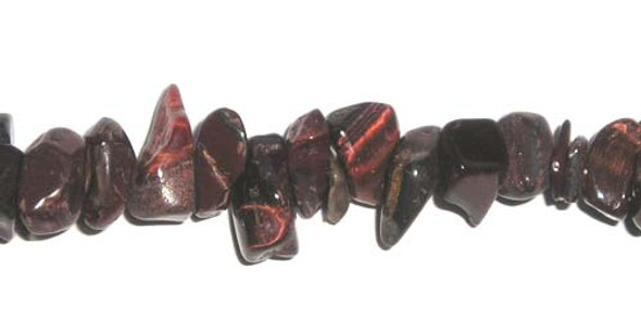 3x7mm 34 Inches Red Tiger Eye Chips