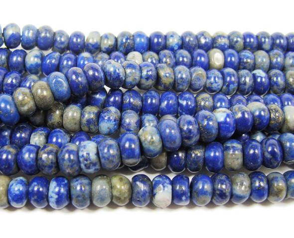 4x6mm Lapis Rondelle Beads