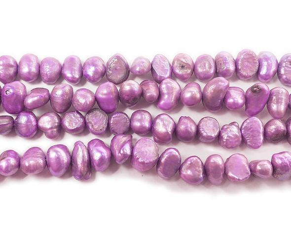 6-7mm 15 Inch Strand Light Purple Nugget Pearls