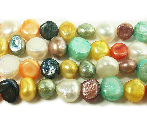 9-11mm Multi-color nugget pearl beads