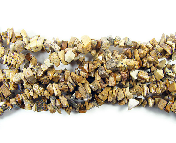 3x6mm 34 Inches Picture Jasper Chips