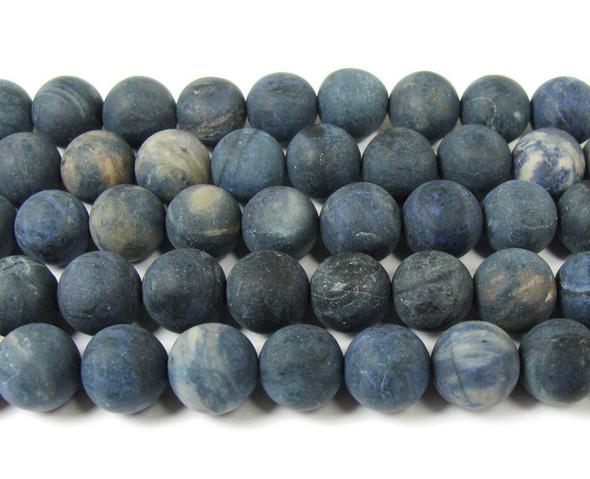 8mm  15.5 inches Neptune jasper matte round beads