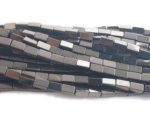 3x5mm Gray hematite rectangle beads
