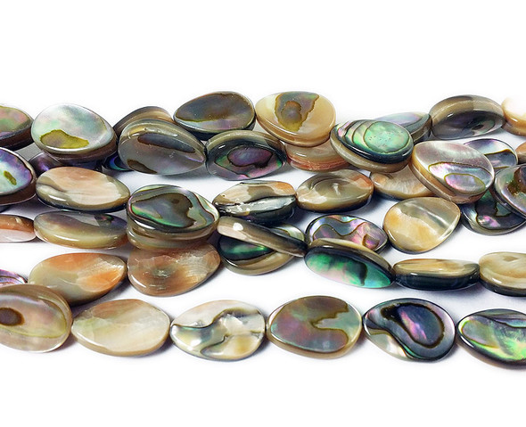 8x12mm Double-sided shell flat teardrop beads
