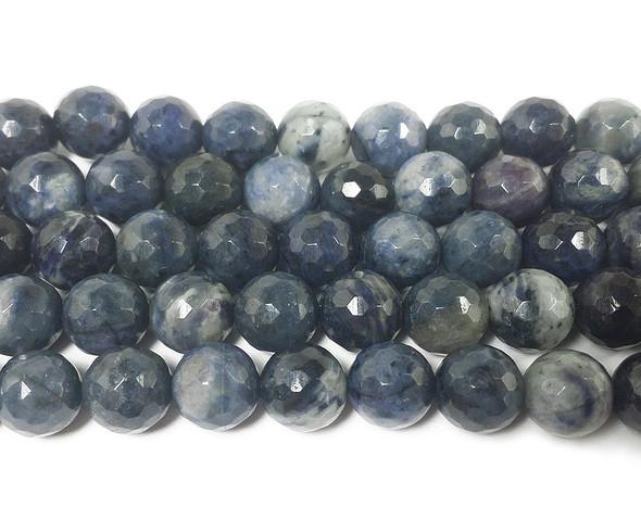 12mm Neptune jasper faceted round beads