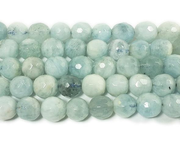 6mm Aquamarine Faceted Round Beads