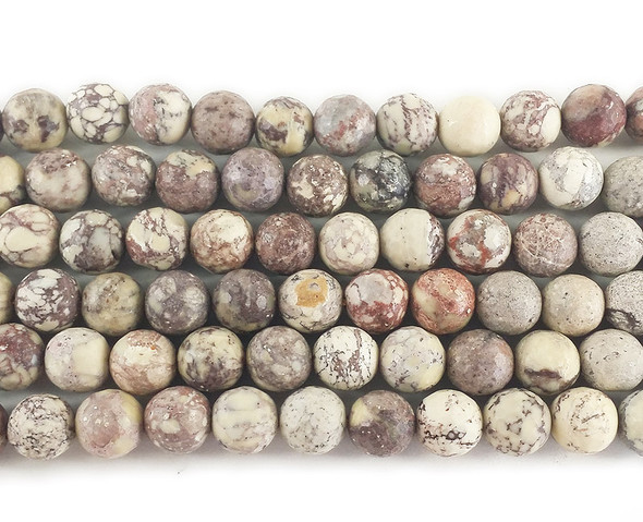 8mm American jasper faceted round beads