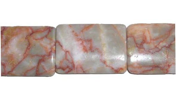 22x30mm  13 beads Light brown spot jasper rectangle beads