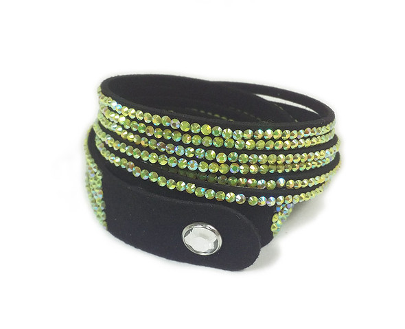 16 inches Green CZ with AB wrap bracelet
