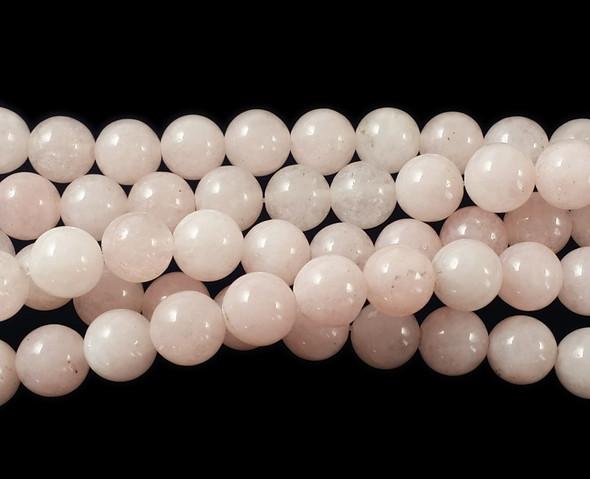 8mm Pink Jade Round Beads
