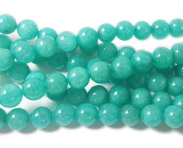 8mm Sea green jade round beads