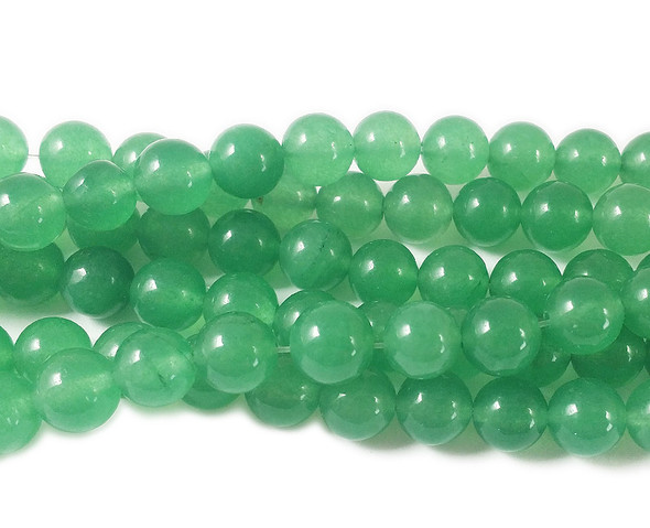8mm Green color treated jade round beads