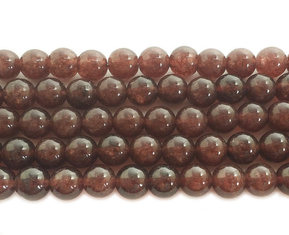 10mm Cola brown jade round beads