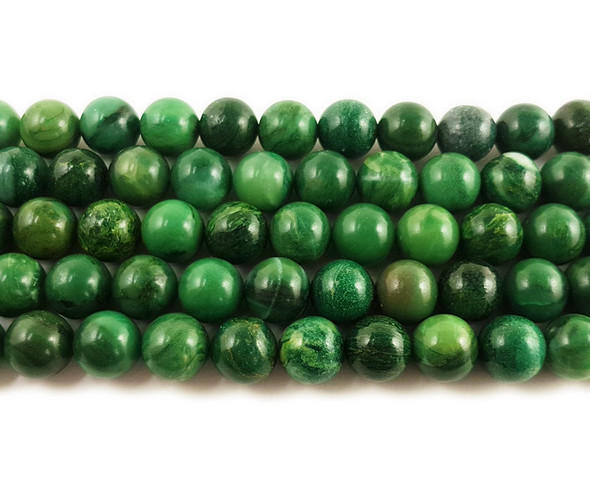 African jade smooth round beads
