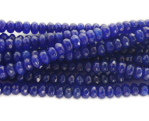 2x4mm Blue jade faceted rondelle beads
