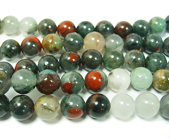 African blood jasper smooth round beads