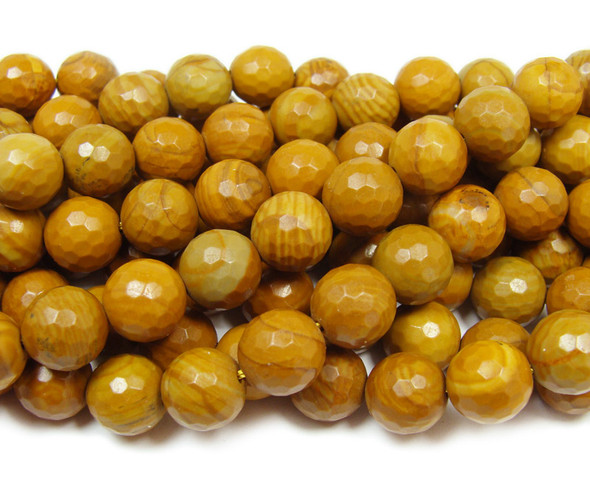 Scene jasper faceted round beads