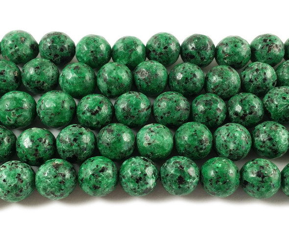 10mm Kiwi green jade faceted round beads