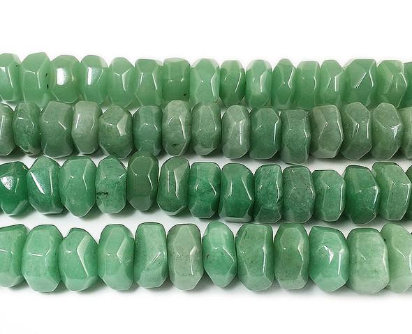 9x14mm Green aventurine free form rondelles