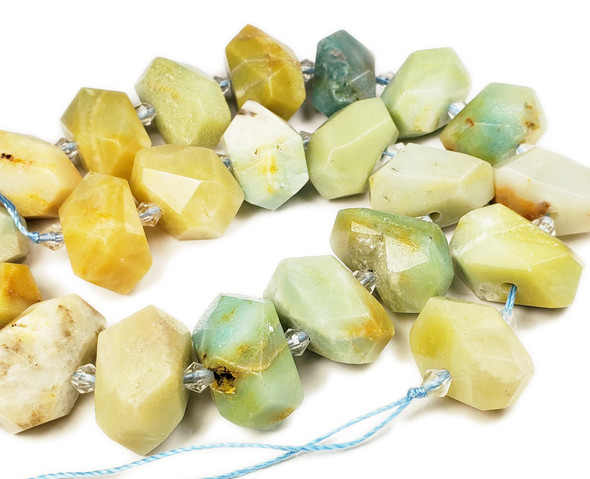 15x20mm Amazonite Faceted Nugget Beads