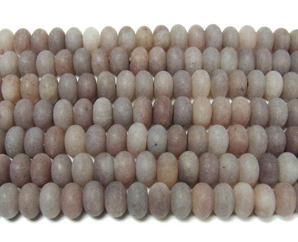5x8mm  Purple aventurine matte rondelle beads