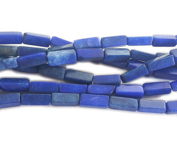5x12mm Dyed Lapis Blue Long Cube Beads