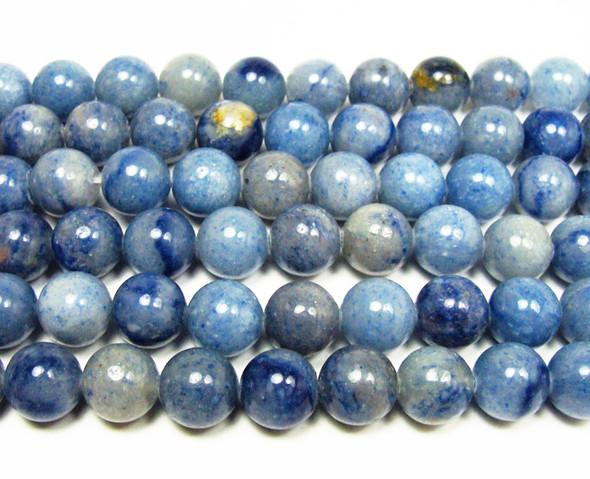 8mm Blue aventurine round beads