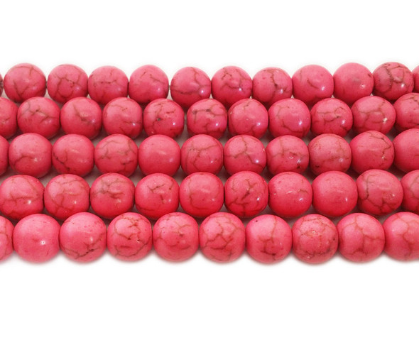 6mm Soft Pink Howlite Round Beads