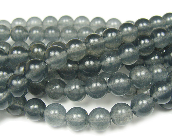 8mm Dark Slate Gray Jade Round Beads