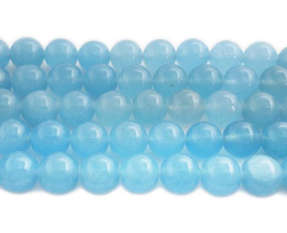 12mm Sky blue jade round beads