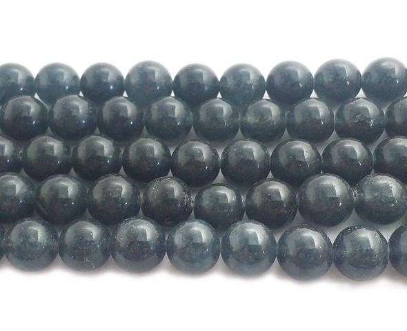 12mm Dark Slate Gray Jade Round Beads