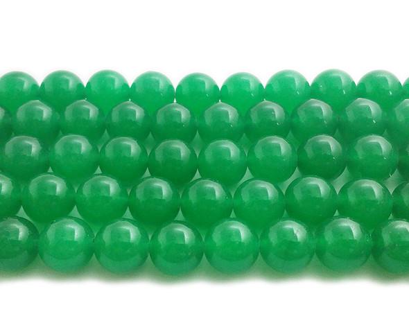 12mm Bright green jade round beads