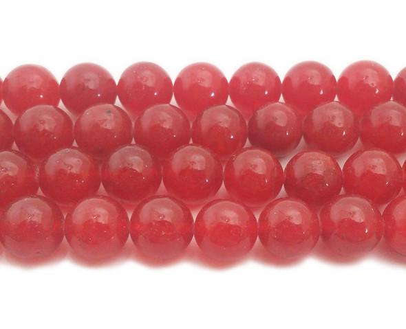 14mm Red jade round beads